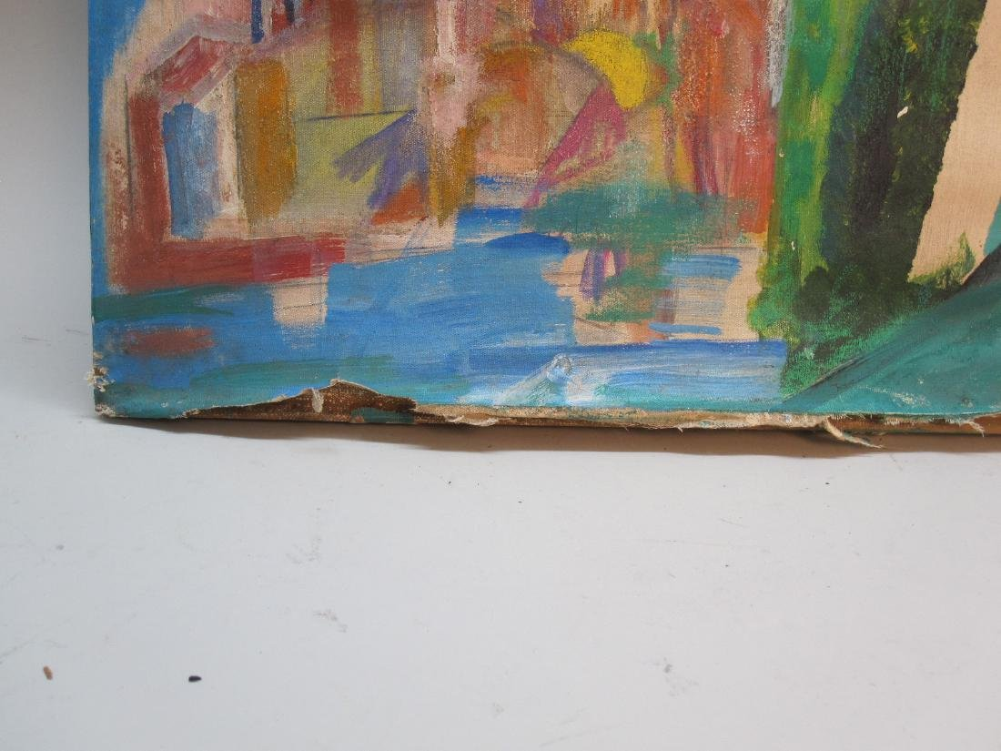 OIL ON CANVAS OF NEW YORK CITY LANDSCAPE - 3