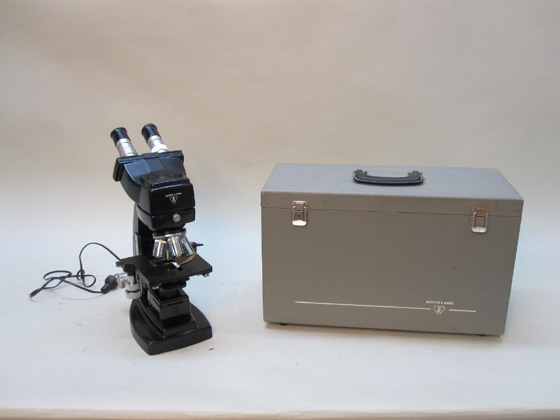 VINTAGE BAUSCH AND LOMB MICROSCOPE