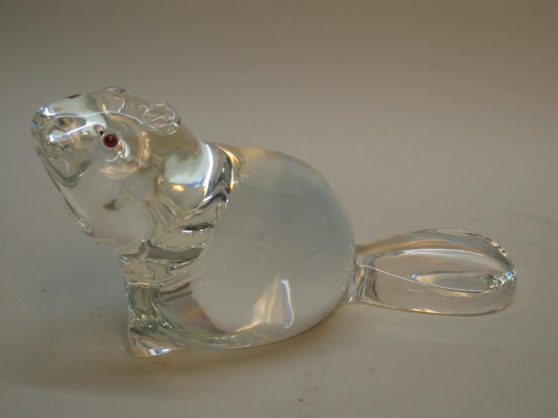 STEUBEN GLASS BEAVER