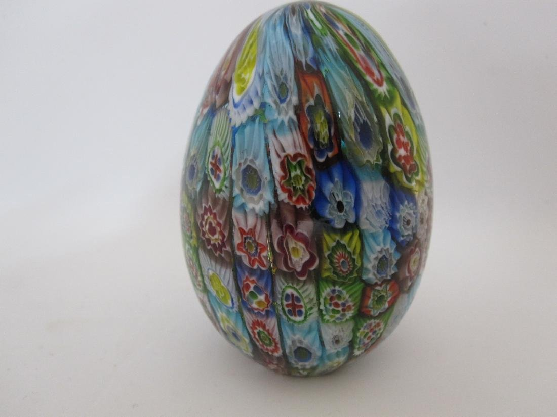 GROUP OF SIX ASSORTED GLASS EGGS - 4