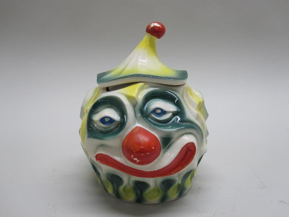 VINTAGE McCOY SAD CLOWN COOKIE JAR