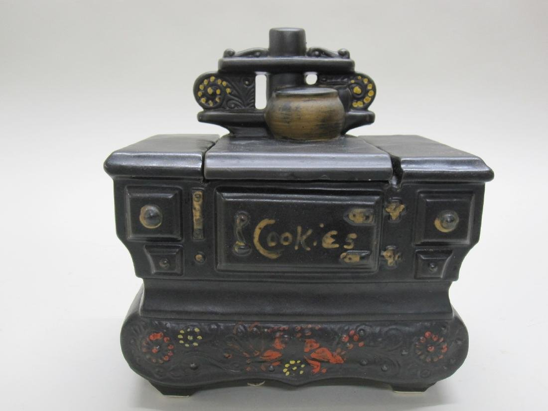 VINTAGE McCOY COOKSTOVE COOKIE JAR