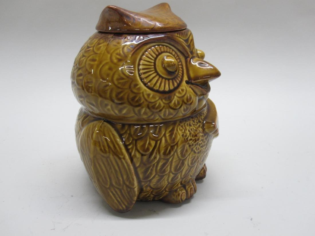 VINTAGE GIANT OWL COOKIE JAR - 2