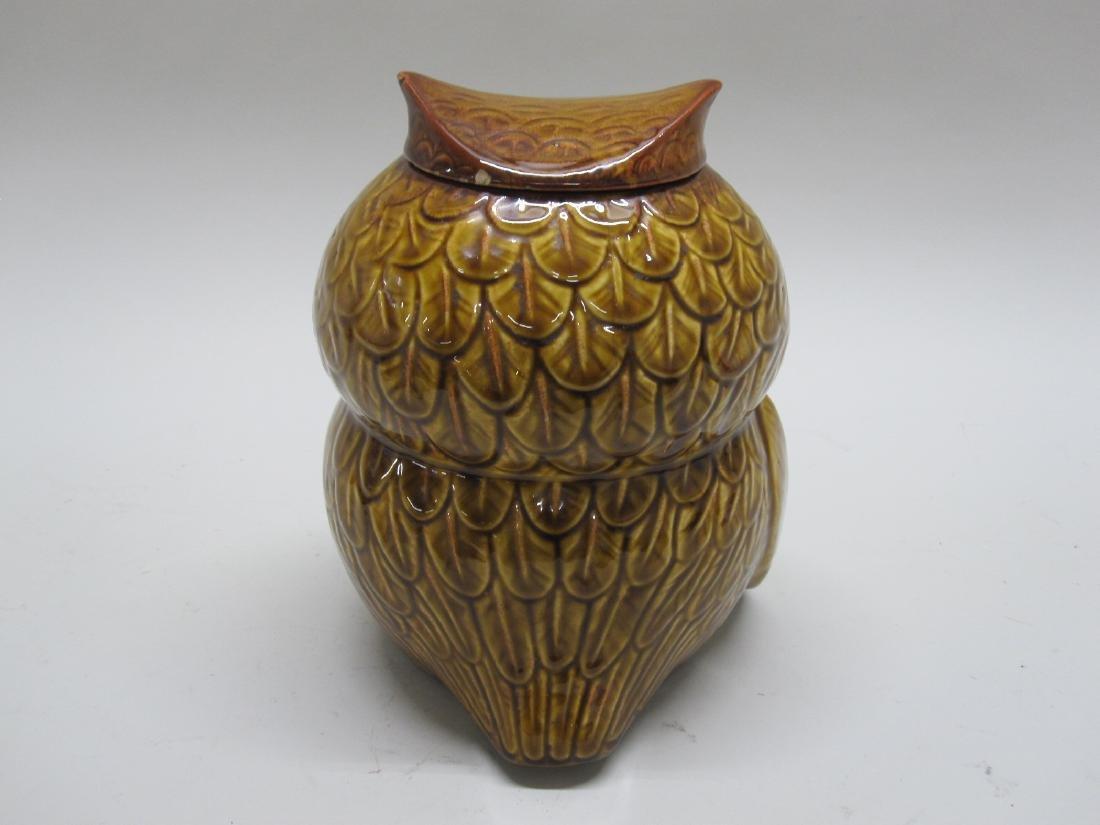 VINTAGE GIANT OWL COOKIE JAR - 3
