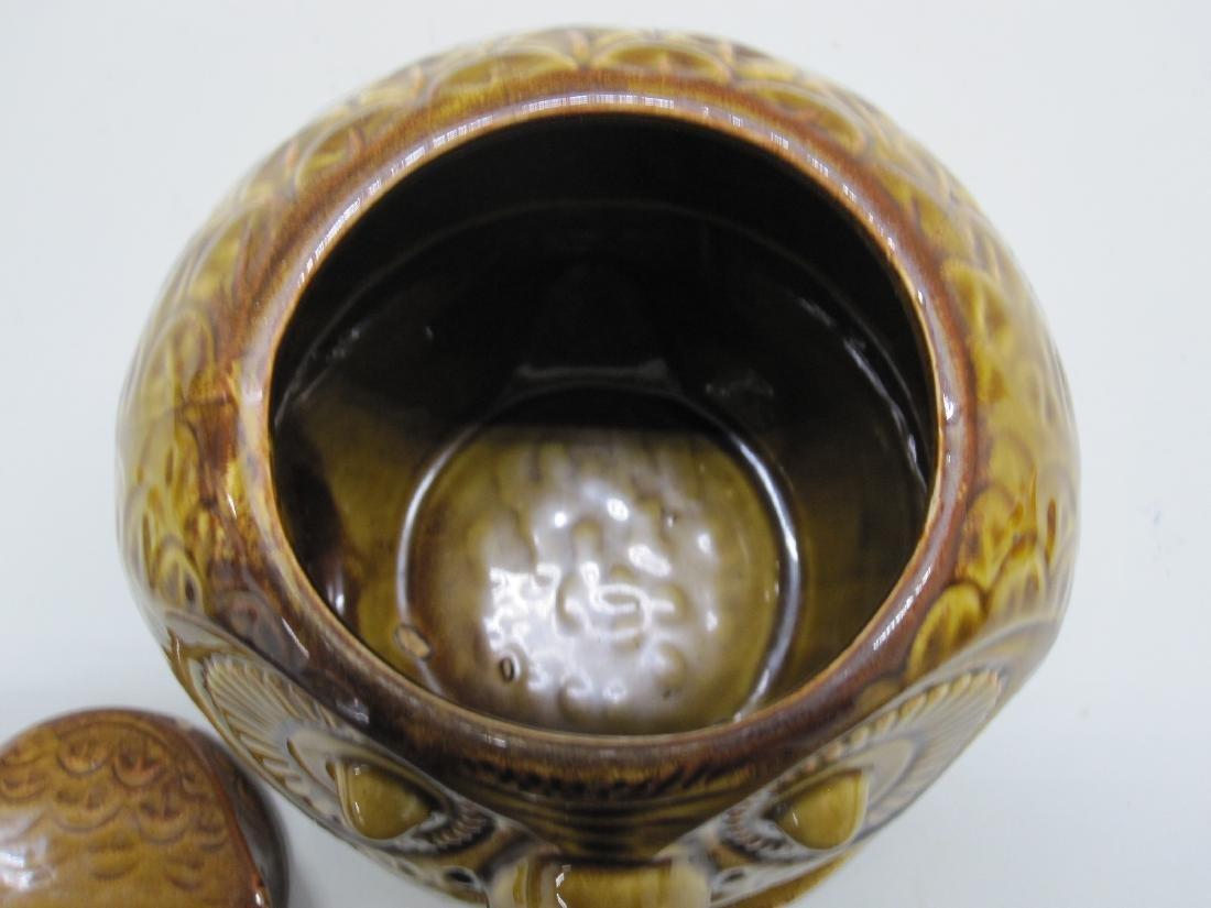 VINTAGE GIANT OWL COOKIE JAR - 4