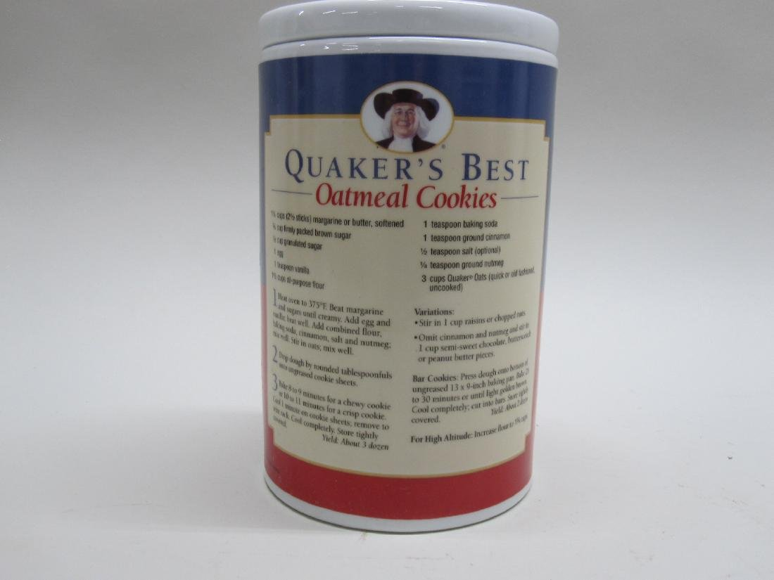 VINTAGE QUAKER OATS COOKIE JAR - 2