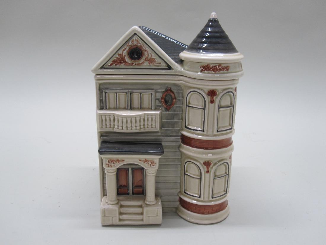 VINTAGE VICTORIAN HOUSE COOKIE JAR