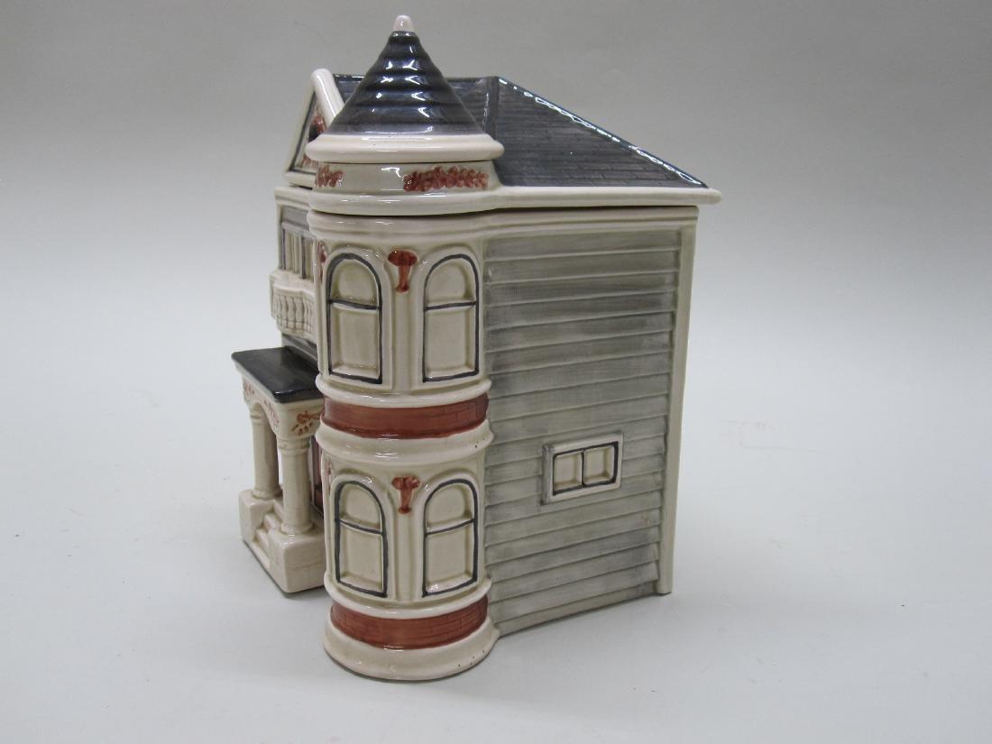 VINTAGE VICTORIAN HOUSE COOKIE JAR - 2