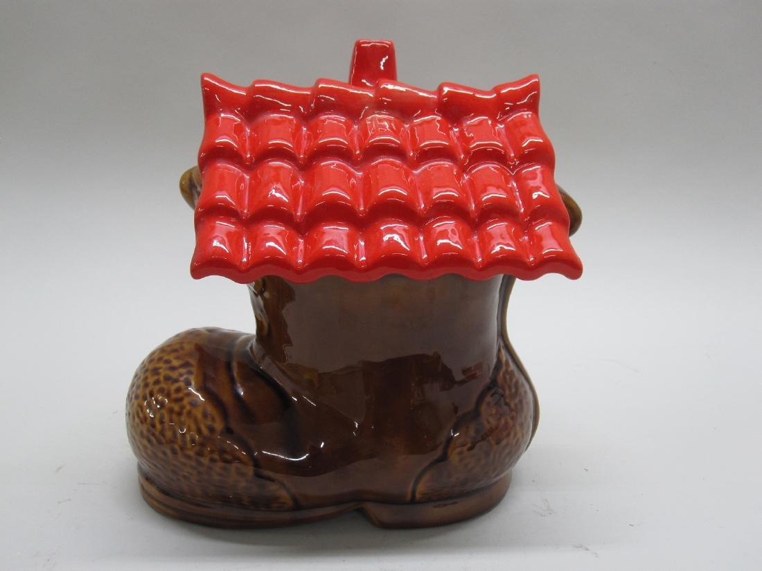 VINTAGE SHOE HOUSE COOKIE JAR - 3