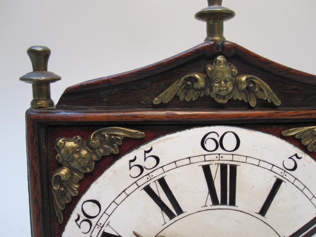 ANTIQUE WOODEN CARRIAGE CLOCK - 2