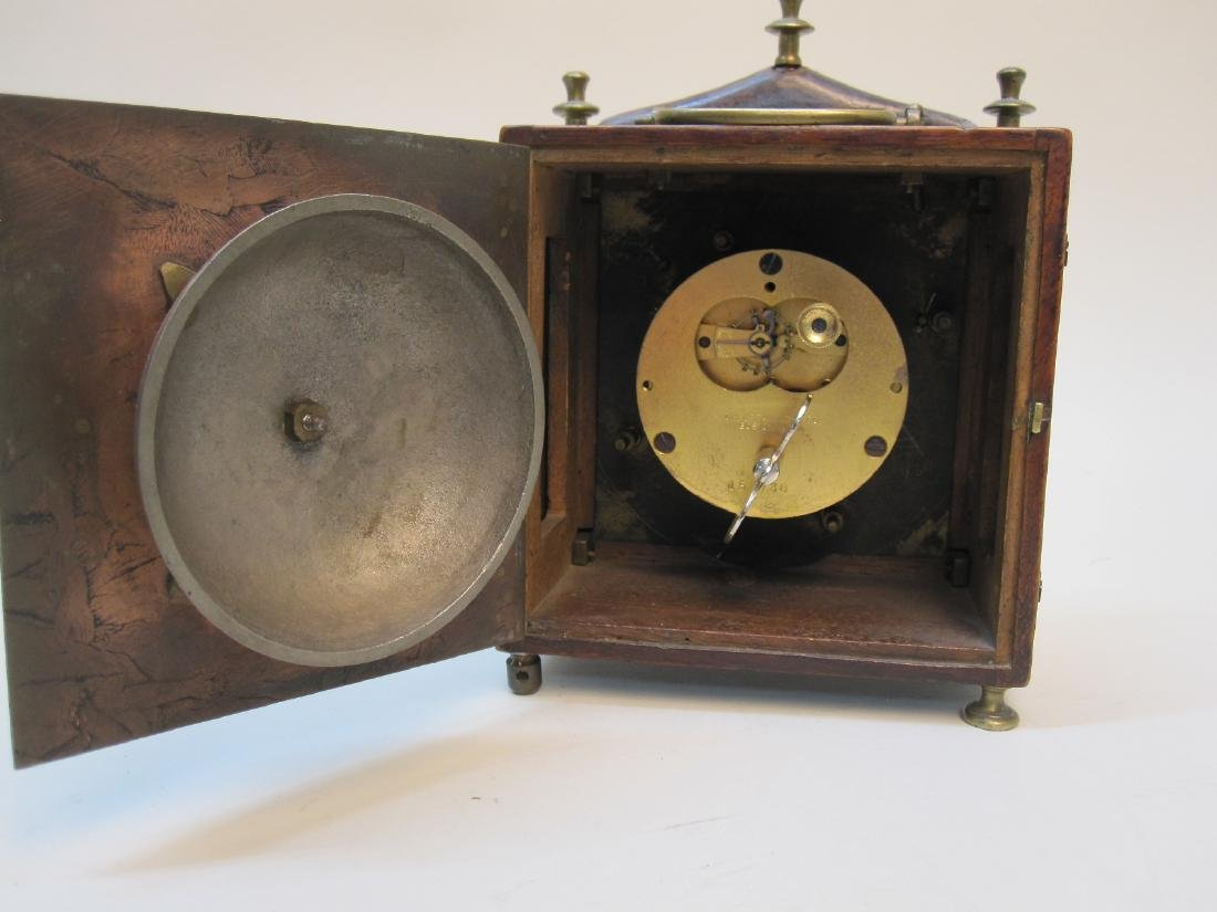 ANTIQUE WOODEN CARRIAGE CLOCK - 4