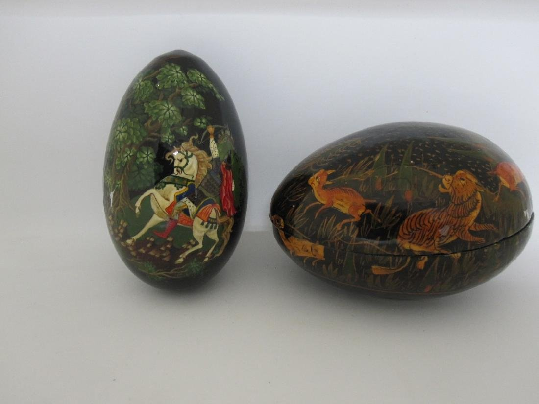 RUSSIAN ENAMEL DECORATED EGG