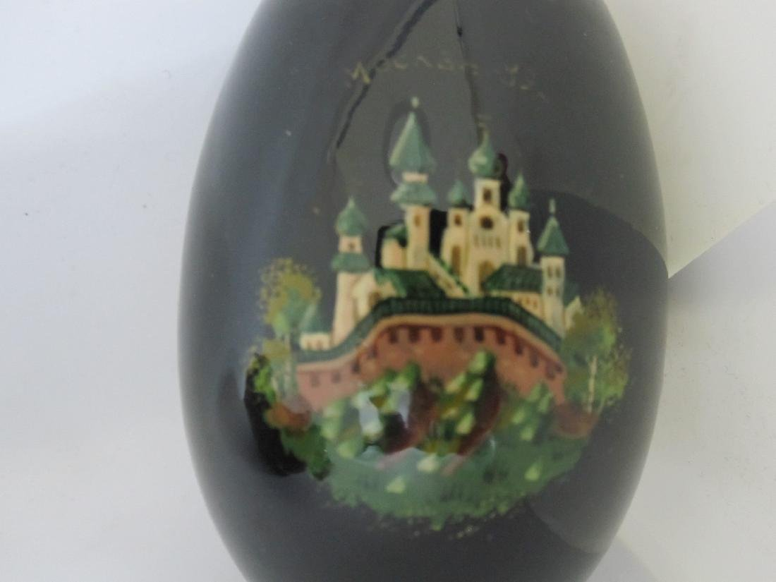 RUSSIAN ENAMEL DECORATED EGG - 3