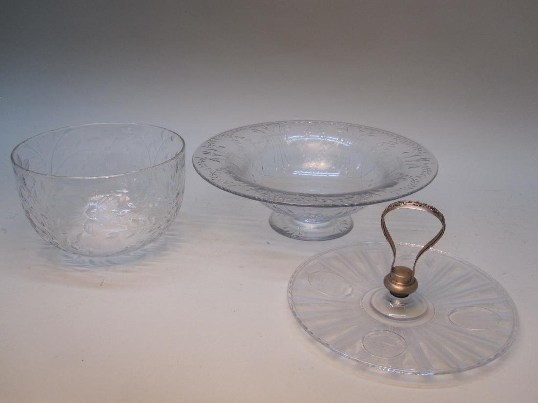 STERLING SILVER HANDLED SERVING DISH