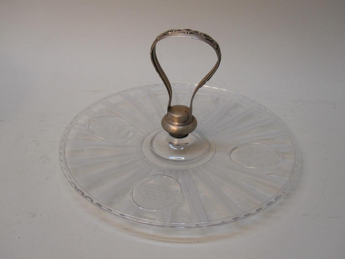 STERLING SILVER HANDLED SERVING DISH - 2