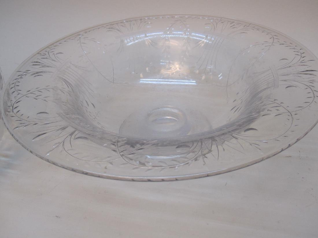 STERLING SILVER HANDLED SERVING DISH - 4