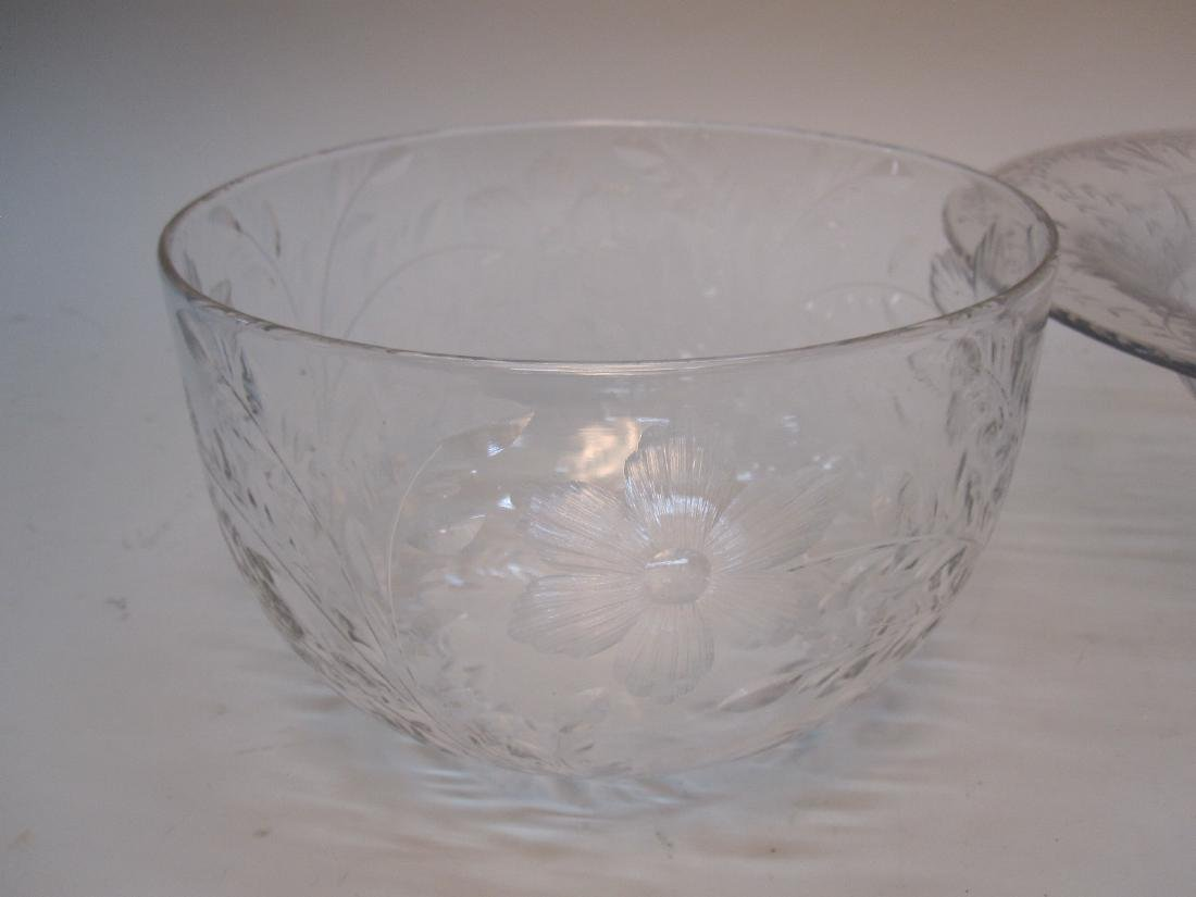 STERLING SILVER HANDLED SERVING DISH - 5