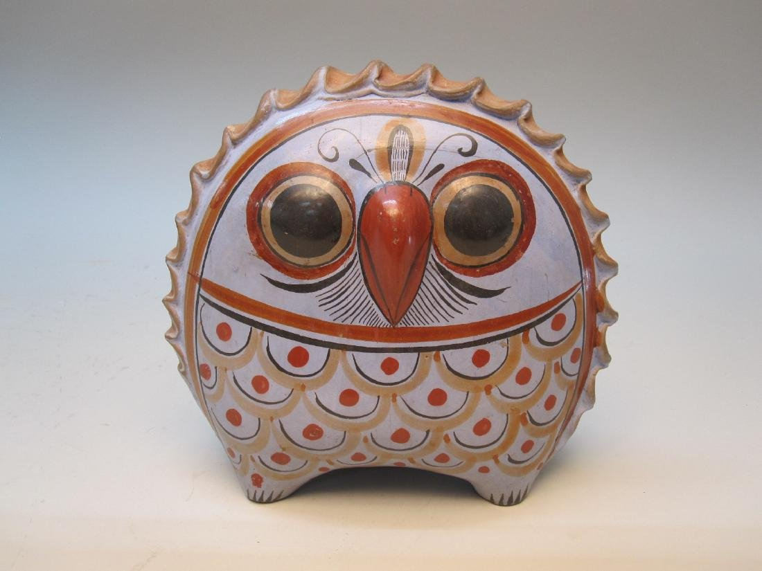 TERRACOTTA BLUE DECORATED OWL