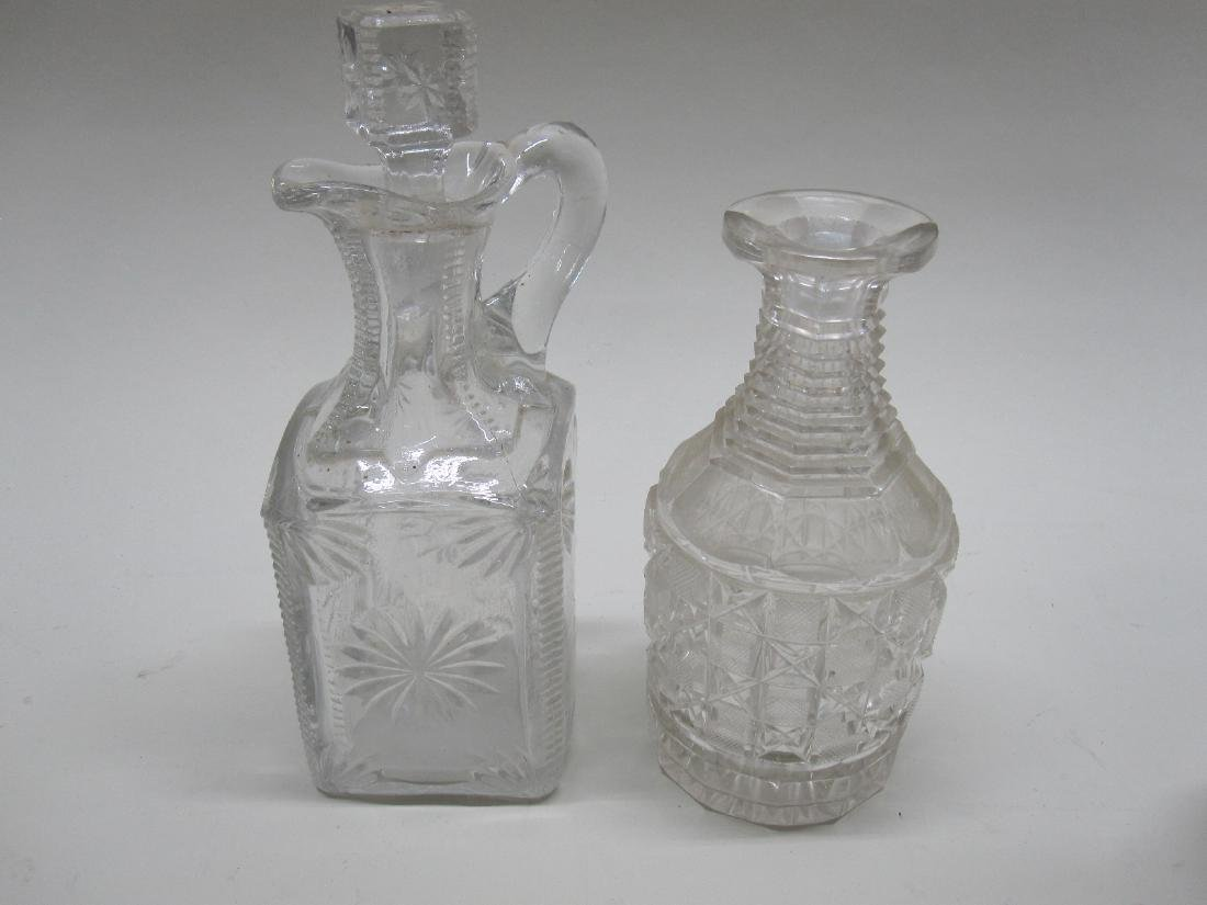 GROUP OF FOUR GLASS DECANTERS - 5