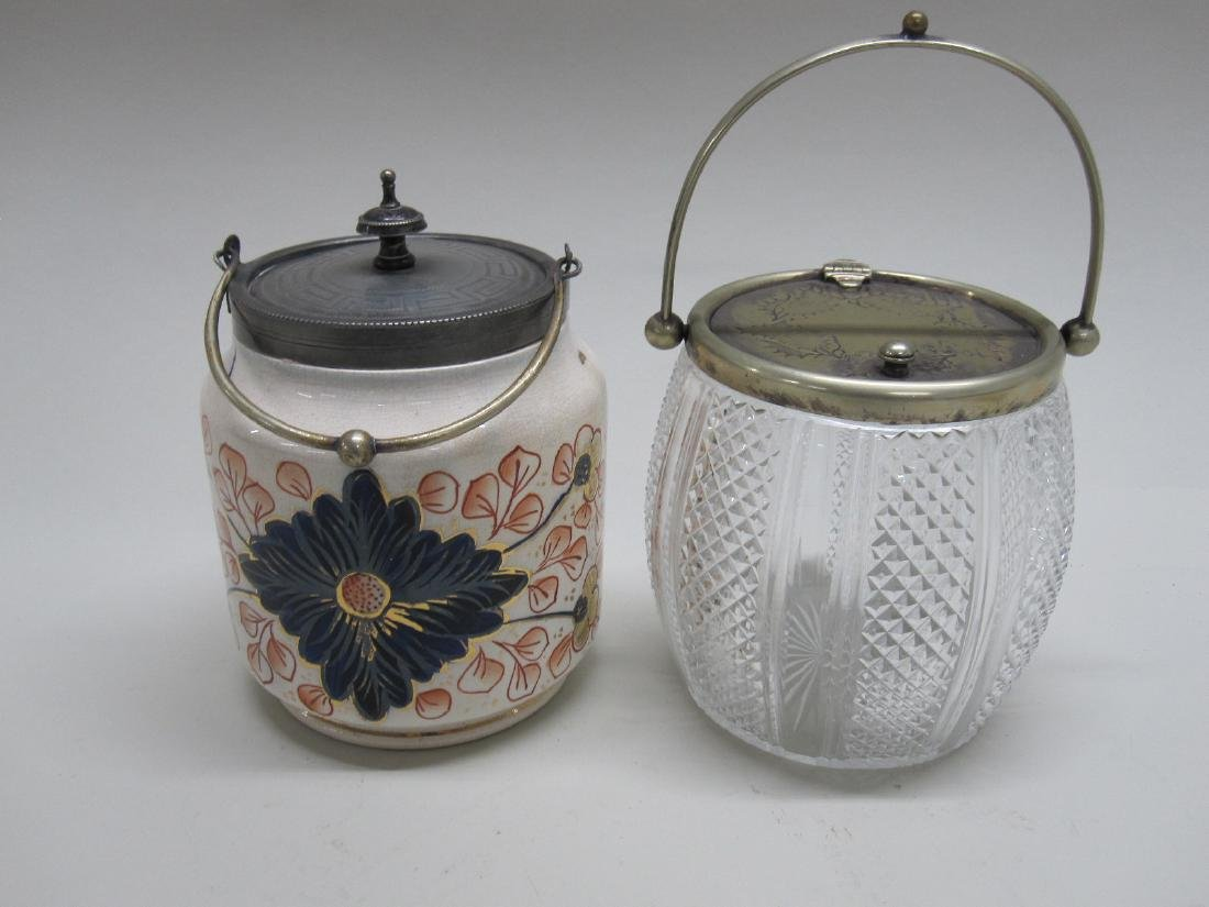 CUT GLASS TEA CADDY