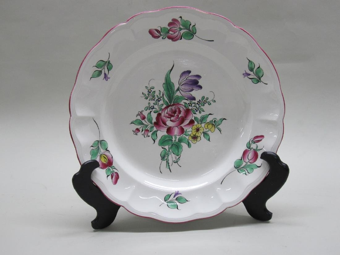 FRENCH LUNEVILLE FLORAL DECORATED CHARGER