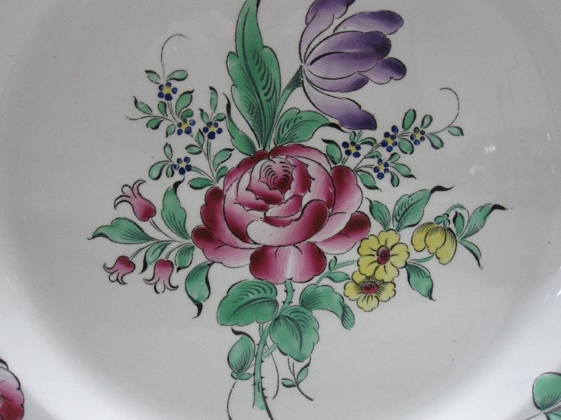 FRENCH LUNEVILLE FLORAL DECORATED CHARGER - 2