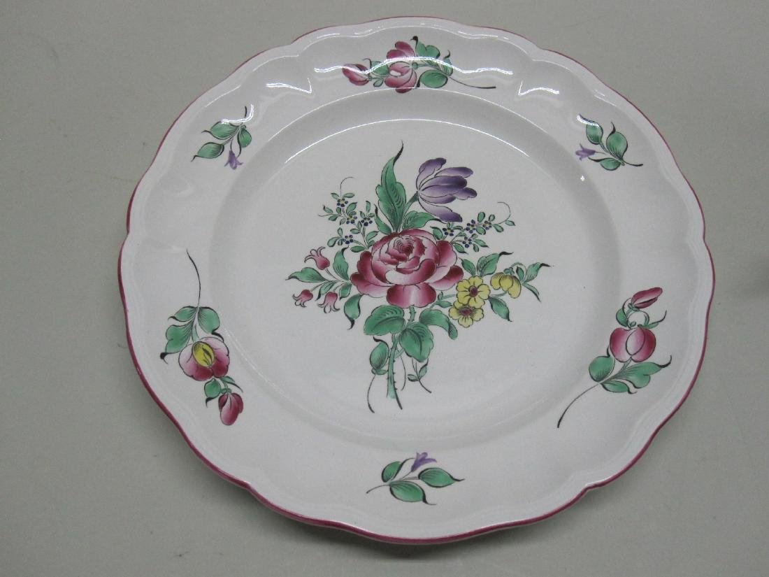 FRENCH LUNEVILLE FLORAL DECORATED CHARGER - 3