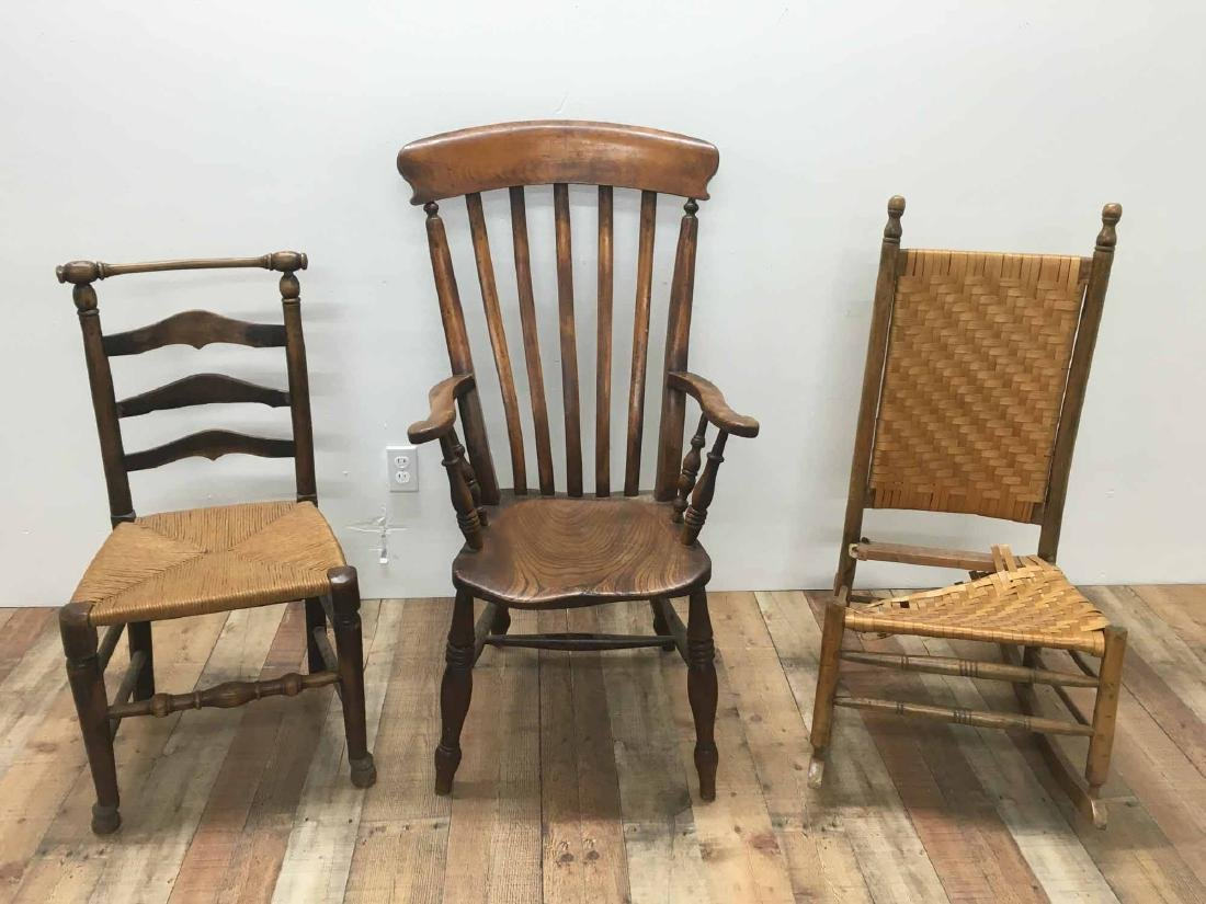 GROUP OF THREE ASSORTED CHAIRS