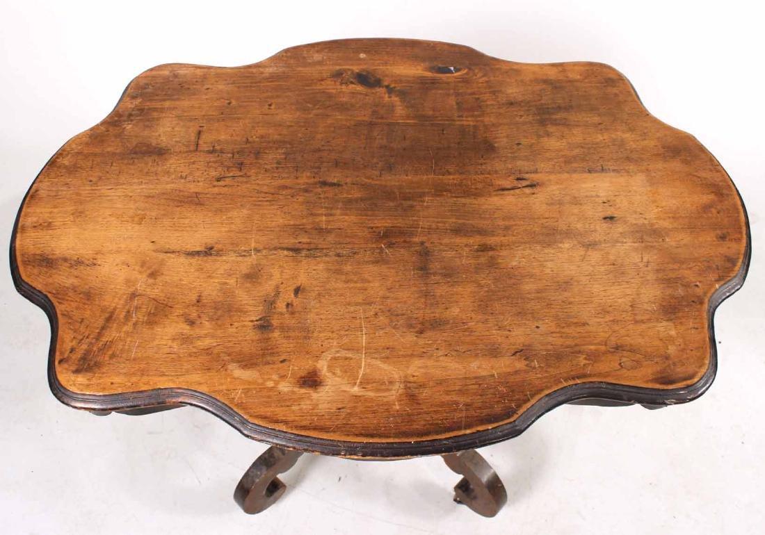 VICTORIAN WALNUT PART-EBONIZED CENTER TABLE - 3