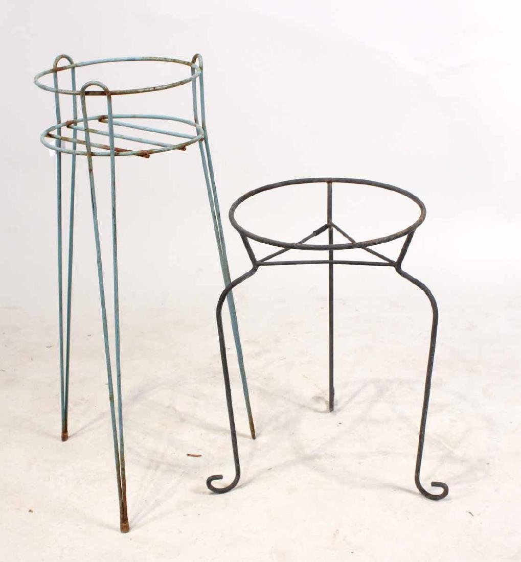 FOUR METAL PLANT STANDS - 7