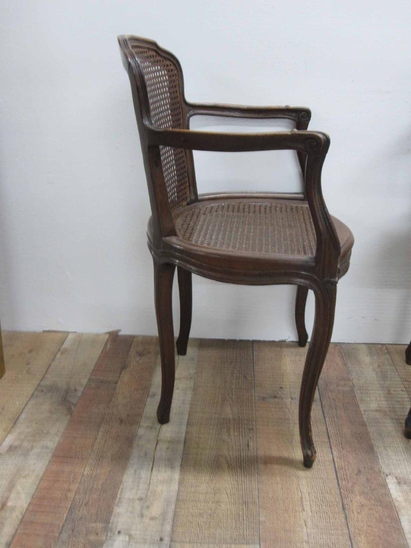 FIVE LOUIS XV STYLE ARMCHAIRS - 2