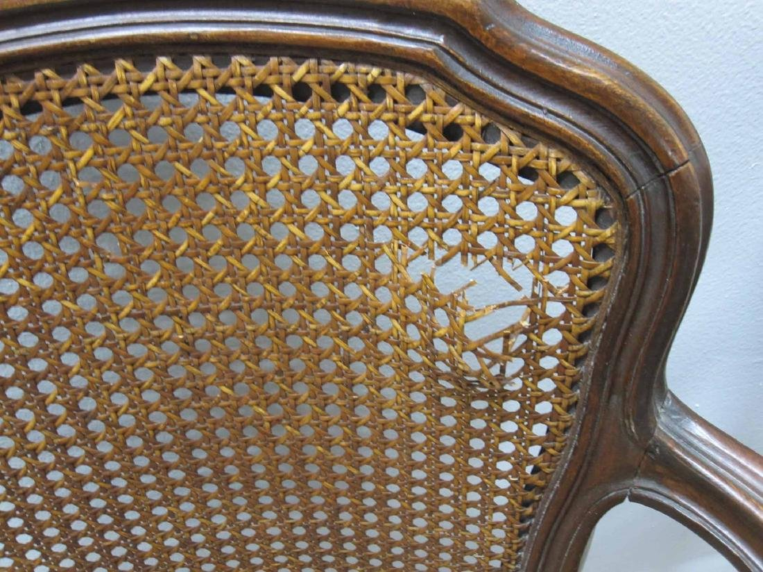 FIVE LOUIS XV STYLE ARMCHAIRS - 4