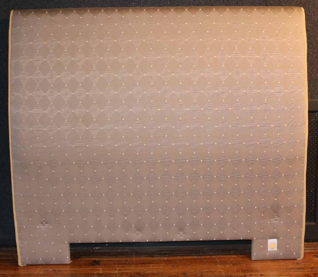 CONTEMPORARY BEIGE-UPHOLSTERED HEADBOARD