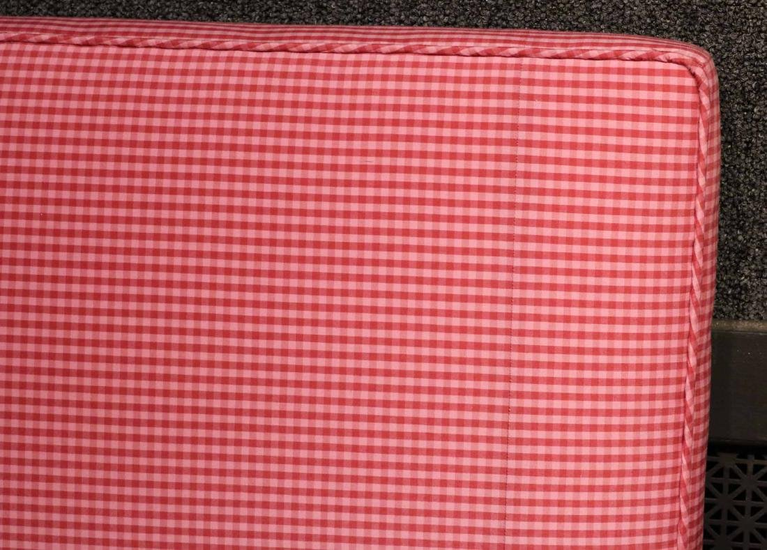 CONTEMPORARY PINK GINGHAM-UPHOLSTERED HEADBOARD - 3