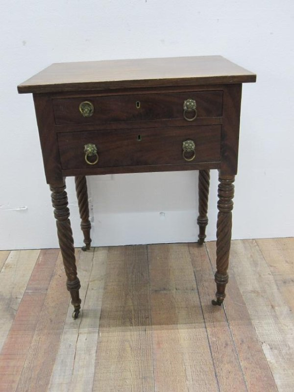 EMPIRE MAHOGANY SEWING TABLE