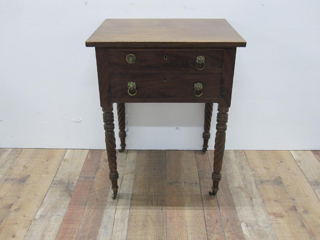 EMPIRE MAHOGANY SEWING TABLE - 2