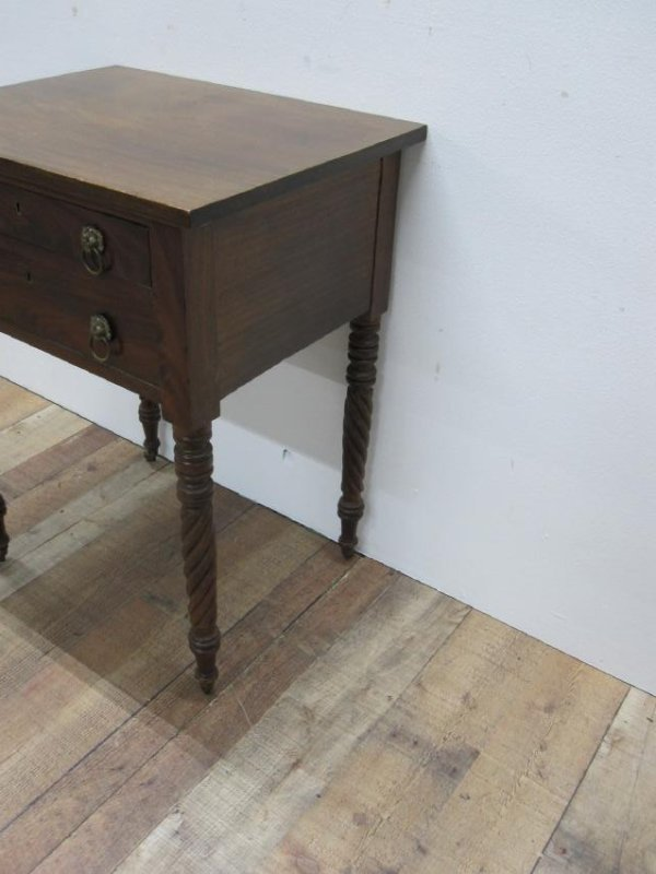 EMPIRE MAHOGANY SEWING TABLE - 3