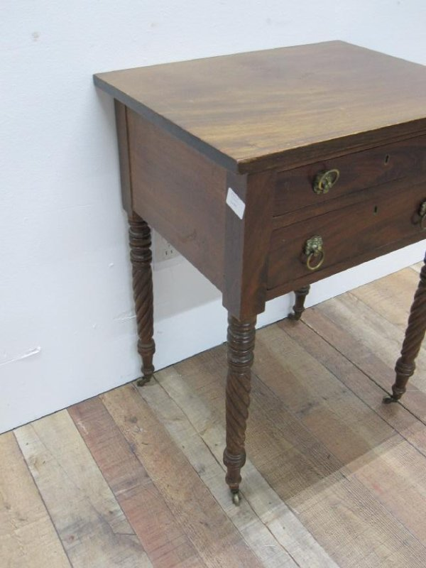 EMPIRE MAHOGANY SEWING TABLE - 4