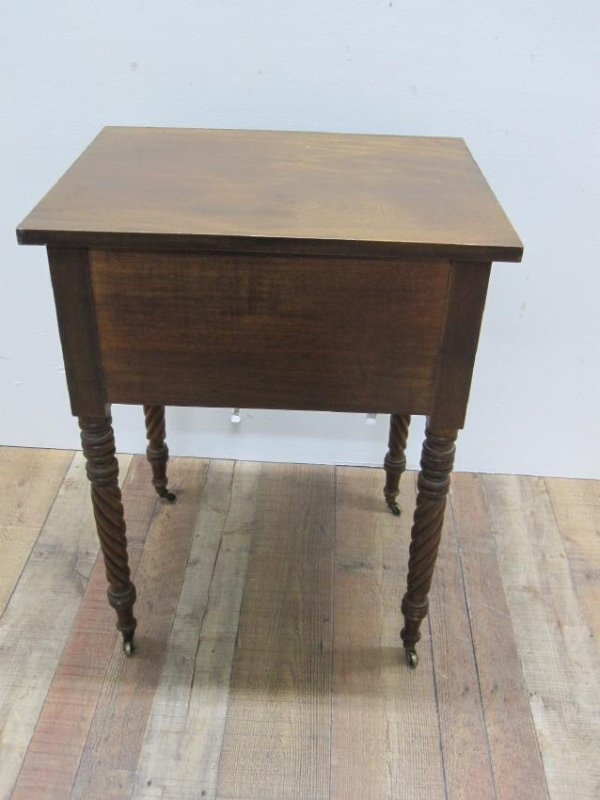 EMPIRE MAHOGANY SEWING TABLE - 5