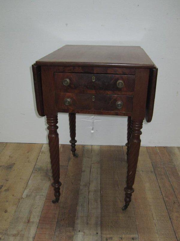 EMPIRE MAHOGANY SEWING TABLE - 2