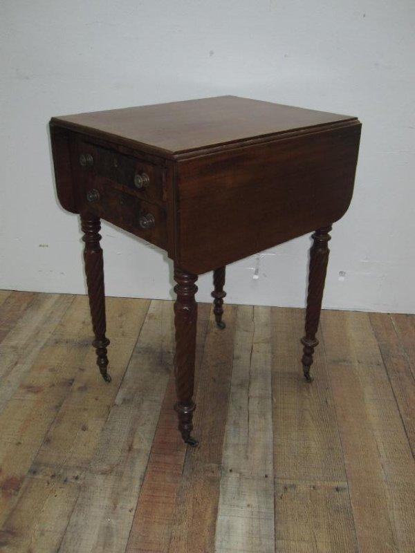EMPIRE MAHOGANY SEWING TABLE - 3