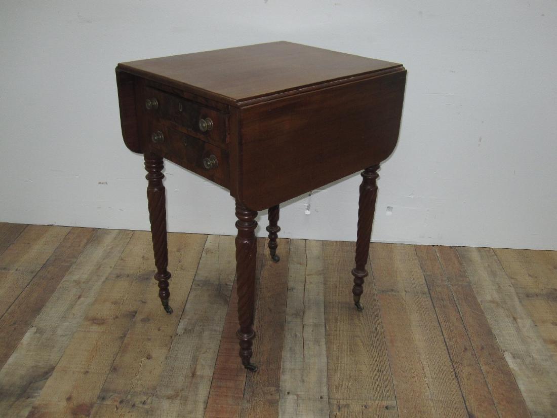 EMPIRE MAHOGANY SEWING TABLE - 4