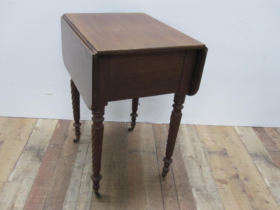 EMPIRE MAHOGANY SEWING TABLE - 6