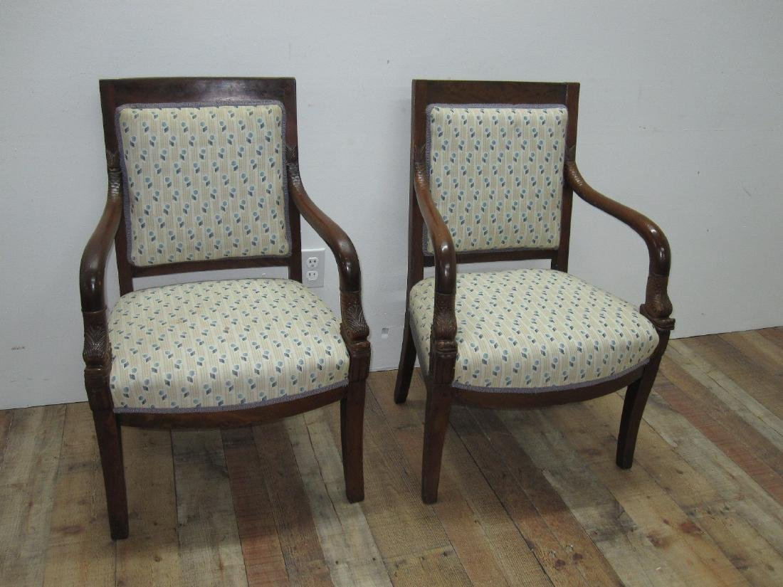 PAIR OF FRENCH EMPIRE STYLE ARMCHAIRS - 2