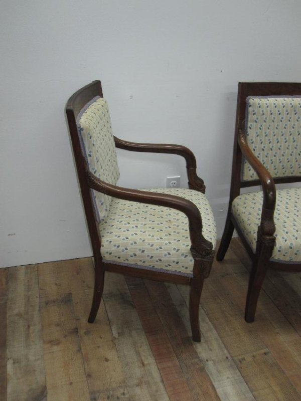 PAIR OF FRENCH EMPIRE STYLE ARMCHAIRS - 3