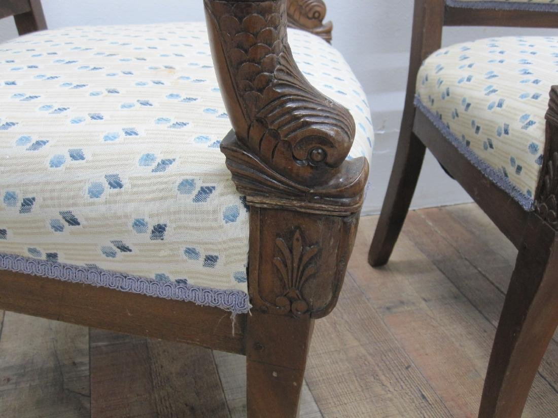 PAIR OF FRENCH EMPIRE STYLE ARMCHAIRS - 4