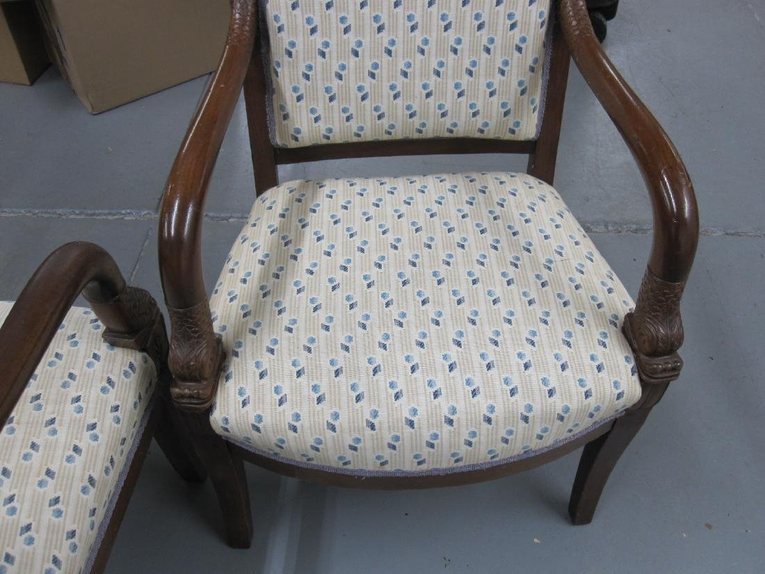 PAIR OF FRENCH EMPIRE STYLE ARMCHAIRS - 5