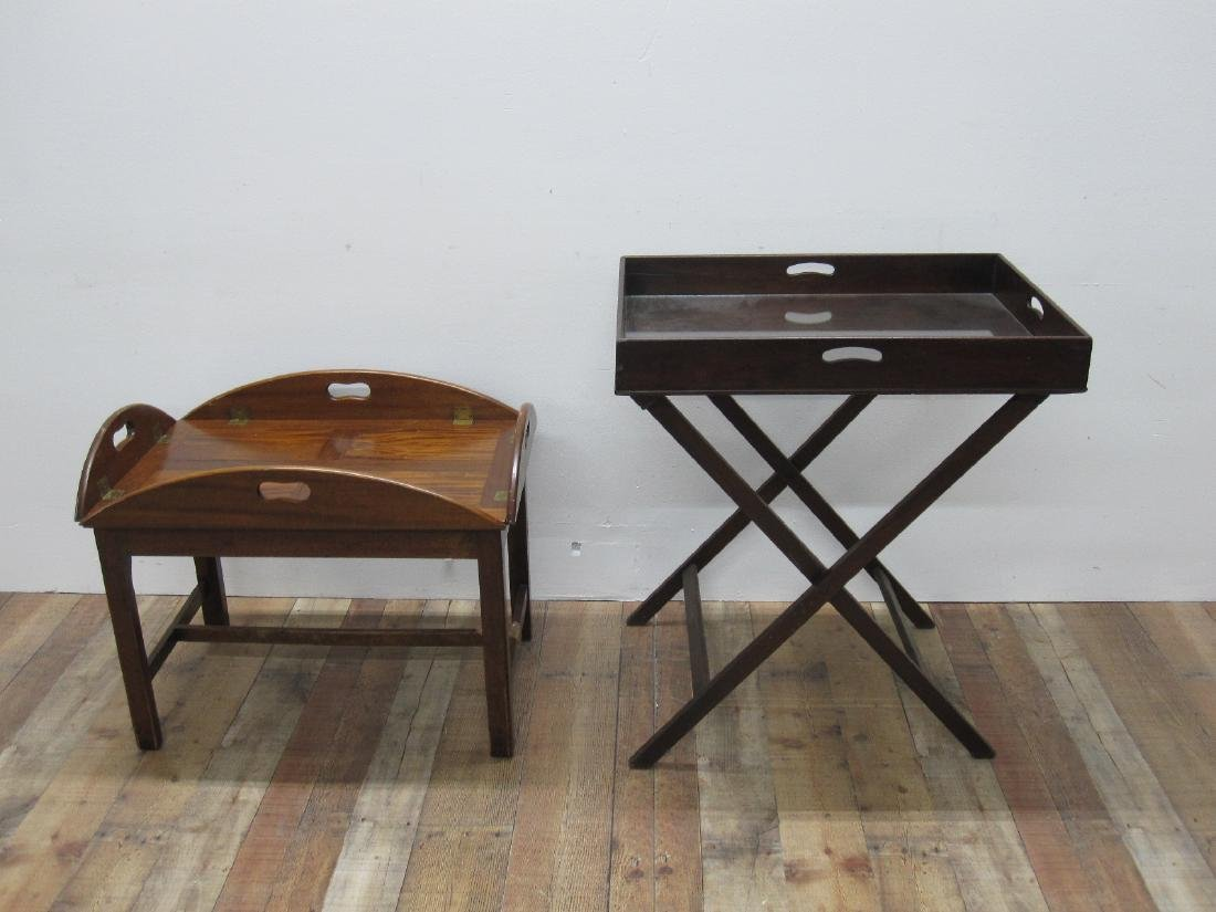 TWO BUTLER TRAY TABLES