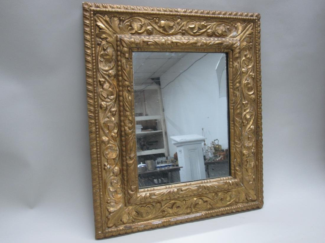 GILT GESSO HANGING WALL MIRROR