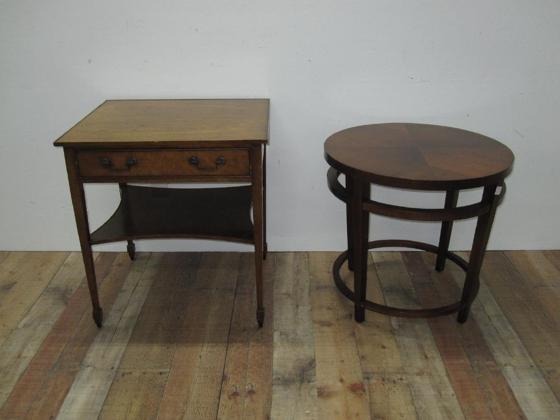 FRUITWOOD ONE DRAWER OCCASIONAL TABLE